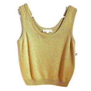 NWT St John | Gold Shimmer Sleeveless Blouse